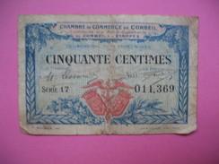 Bon / Billet Chambre De Commerce De Corbeil Et Etampes  De Cinquante Centimes N° 011 369 - Chambre De Commerce
