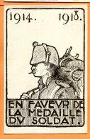 Y161, En Faveur De La Médaille Du Soldat, 1914 - 1918, Non Circulée - War 1914-18