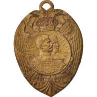 France, Journée Serbe, Medal, 1915, Excellent Quality, Bronze, 44 - Army & War