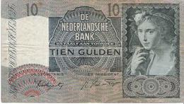 Netherlands - Pick 56b - 10 Gulden 1942 - F+ - [2] 1815-… : Royaume Des Pays-Bas