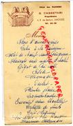 87 - LIMOGES - MENU G. CASSETARI  PROPRIETAIRE - VILLA DES PLATANES - 4 RUE DE BELFORT - 1954 - Menus