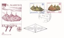 San Marino 1977 FDC Europa CEPT (T2-25) - Europa-CEPT