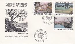 Cyprus 1977 FDC Europa CEPT (T2-25) - Europa-CEPT