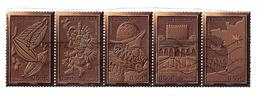 France 2009 ,Histoire Du CHOCOLAT / Chocolate History ,Bande De 5 Se Tenant  Yvert 4357 / 4361 Du Bloc Feuillet ,obl, TB - Alimentación