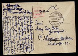 A4368) SBZ Karte Mit Barfrankatur Burkhardtsdorf / Erzgebirge 10.10.45 - Sowjetische Zone (SBZ)