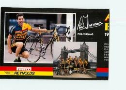 Phil THOMAS , Raleigh Banana 1988 . Attention : Bien Lire Le Descriptif ! 2 Scans. Cyclisme. En L'état - Ciclismo