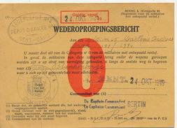 WEDEROPROEPINGSBERICHT 1949 - ZIE 2 SCANS - Militaria