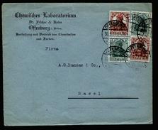 A4370) DR Infla Brief Von Offenburg 30.9.20 Mit Mi.103 (2) Ua. - Deutschland