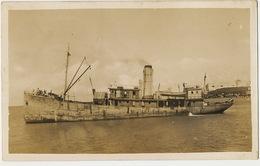 Real Photo Ship In Puerto Plata Santo Domingo WWII 1943 - Dominikanische Rep.