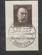 GERMANIA REICH - 1944 - Robert Koch Cat. 783 Serie Cpl. 1v. Usato Su Frammento Annullo 11/12/1945 - Gebraucht