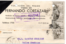 Tarjeta Postal Con Censura Militar Vitoria. - 1931-Today: 2nd Rep - ... Juan Carlos I