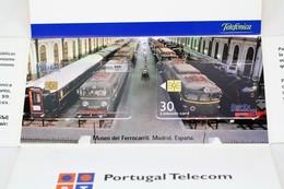 Phone Card Iberex Spain - Train/ Railway  Engine/ Locomotive - Madrid Railway Museum 1999 - Trenes
