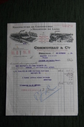 Facture Ancienne , BEAUVAIS - COMMUNEAU Et Cie, Manufacture De Couvertures Et Molletons De Laine. - France