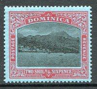 Dominica 1921-22 KGV - Roseau From The Sea (Wmk. Script CA) - 2/6 Black & Red On Blue HM (SG 70) - Dominica (...-1978)