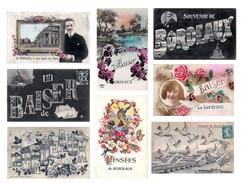 Lot De Cartes 16 Cartes CPA Souvenir De BORDEAUX - Toutes Scannées - Bordeaux
