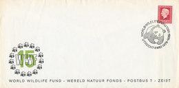 DWWF-13 1984 NETHERLANDS - GIANT PANDA WWF WNF - ORIGINAL WWF COVER - RRR SPEC. POSTMARK - FDC
