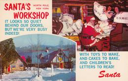 Santa Claus Workshop North Pole New York - Père Noël - VG Condition - 2 Scans - Santa Claus