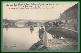 CPA Pont Sur Yonne L' Abreuvoir Voy FM 1915 Ambulant Paris à Dijon T2JR TB - Pont Sur Yonne