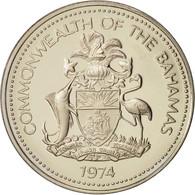Bahamas, Elizabeth II, 5 Cents, 1974, Franklin Mint, U.S.A., FDC, Copper-nickel - Bahamas
