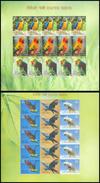 India 2016 Exotic Birds Set Of 2 Sheetlet MNH Macaw Parrot Amazon Crested Cockatoo Beautiful Bird Vogel Indien - Parrots