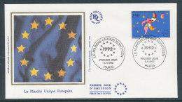 1992 Env 1er Jour Marché Unique Européen - Paris - 1990-1999