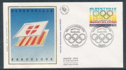 1992 Env 1er Jour J.O. D'Albertville Et De Barcelone - Paris - 1990-1999