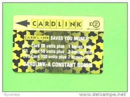 UK - Magnetic Phonecard/Cardlink £2 - Ver. Königreich