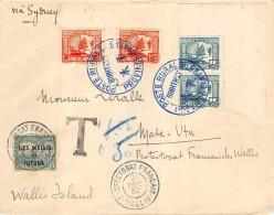 LETTRE INDOCHINE POSTE RURALE ADRESSEE A MATA UTU WALLIS ET FUTUNA ET TAXEE - Wallis Und Futuna