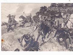 NOYON Kavalerie-Patrouille  Gezeignete Karte Carte Allemande Dessinée    Feldpost - Noyon