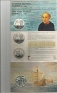 Portugal, 1992, 200 Escudos, O Novo Mundo, The New World, America 1492, Serie III, Silver BU. - Portogallo