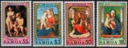 Samoa 1990 Christmas Paintings Complete Set ** MNH Bellini Bouts Cima Correggio