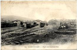 83. CARNOULES. N 19.  LA GARE.  DEPOT DE COMBUSTIBLES - France