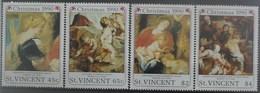 St. Vincent 1990 Christmas ** MNH Rubens