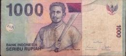 Indonesia 1000 Rupiah VF Banknote 2000 - Indonésie