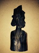 Statue Buste Africain Afrique Bois - Art Africain
