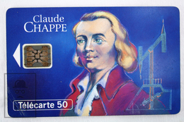 Collectible Characters Topic Phone Card - France Telecom - Claude Chappe - Personajes