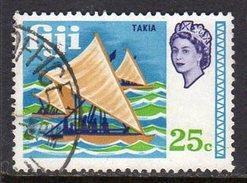 Fiji 1969 Definitives 25c Outrigger Canoe Value, Used - Fiji (...-1970)