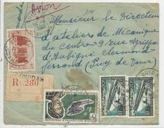 AOF- 1958 - ENVELOPPE RECOMMANDEE Par AVION De OUIDAH (DAHOMEY) Pour CLERMONT-FERRAND - A.O.F. (1934-1959)