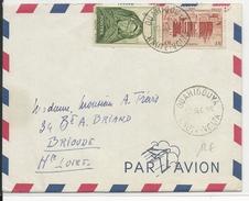 AOF- 1956 - ENVELOPPE Par AVION De OUAHIGOUYA (HAUTE VOLTA) Pour BRIOUDE - A.O.F. (1934-1959)