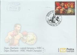 CG 2016-20 WBC WORLD CHAMPION, CRNA GORA MONTENEGRO, FDC - Montenegro