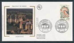 1992 Env 1er Jour Château De Biron - 1990-1999