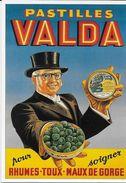 PUBLICITE EDITIONS L'AVION POSTAL  A 107 PASTILLES VALDA  BIB FORNEY BONBONS CHAPEAU HAUT-DE-FORME - Publicité