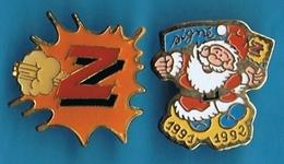 """2 PIN´S //  ** PÈRE NOËL ** 1991/1992 ** """" Z """" ** - Noël"""