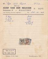 4740FM- JOZEF VAN DEN NEUCKER COMPANY HEADER INVOICE, REVENUE STAMP, 1965, BELGIUM - Belgique