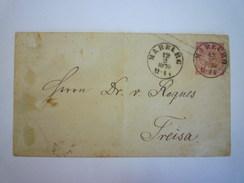 ENVELOPPE  ENTIER POSTAL Au Départ De MARBURG  à Destination De  FREISA   1870    XXX - Deutschland