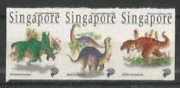 Singapour 1998 Dinosaurs Dinosaures - Prehistory