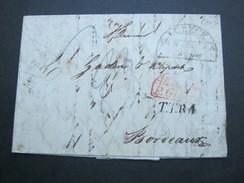 1831 , LÜBECK , Brief Mit Inhalt Nach Frankreich Mit Rotem Transitstempel