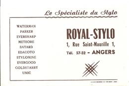 Buvard ROYAL STYLO 1, Rue Saint Maurille à Angers Le Spécialiste Du Stylo - Papeterie