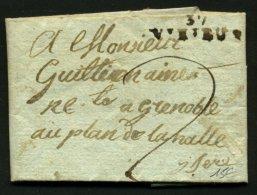 ISERE: Pli De VIRIEUX De 1806 En Port Du Avec Marque à Sec 37 VIRIEUX Pour GRENOBLE - Marcophilie (Lettres)