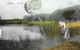[DC3641] CPA - L'ATTENTE E.L.D. - Viaggiata 1906 - Old Postcard - Cartes Postales